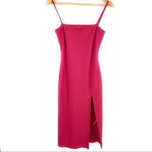 Lovers + Friends Dresses - Lovers & Friends Hot Pink Body Con Dress w/ Slit
